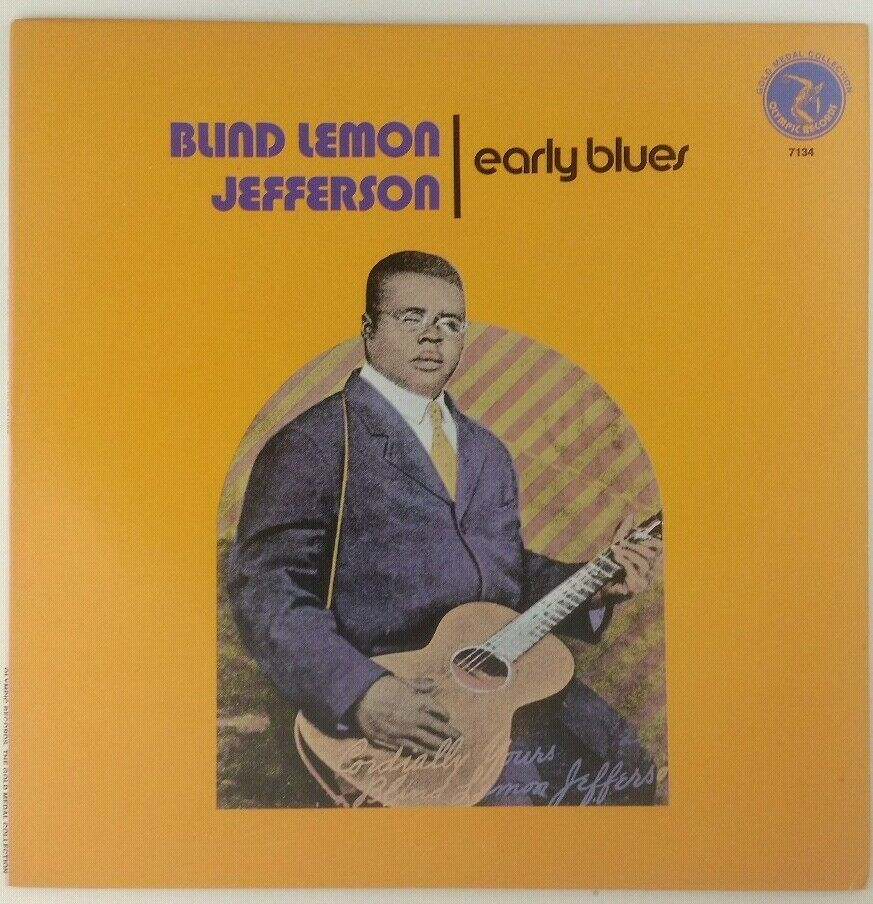 Blind Lemon Jefferson Early Bluesky 1974 Olympics 7134 Vinyl Vg Tested Texas Westcoast Blues Records Music Vinyl Vinyl Rock N Roll Jefferson
