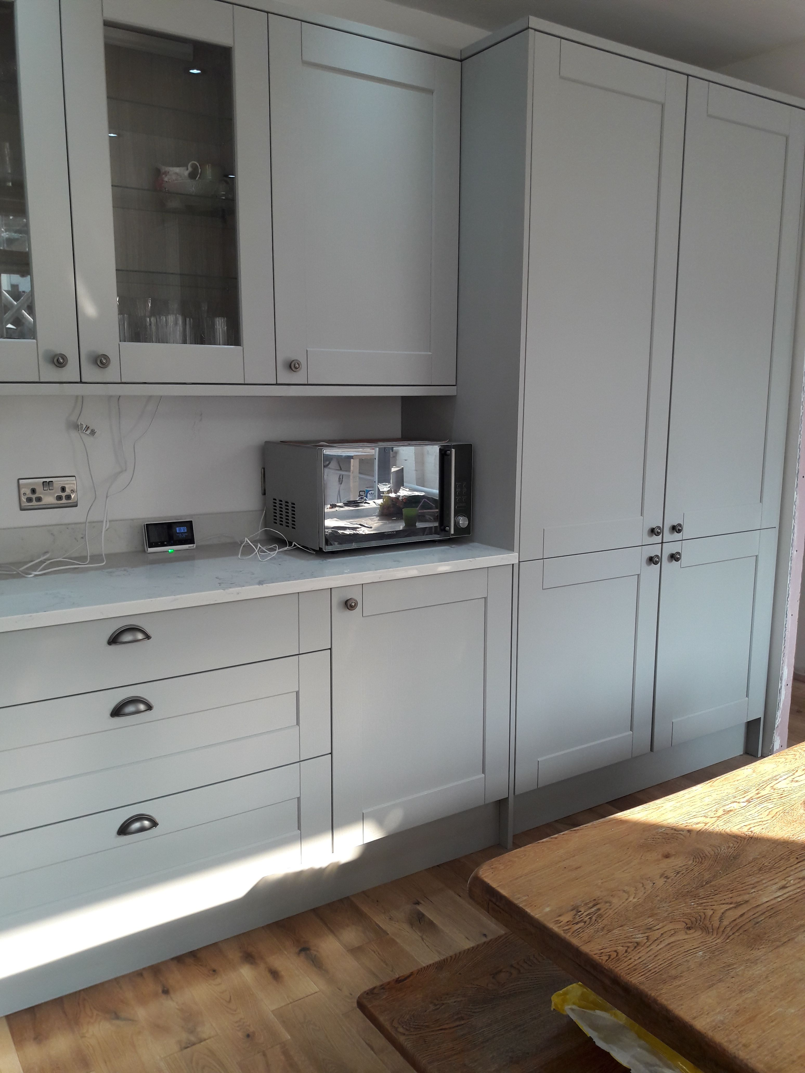 Howden's Fairford Grey Shaker Howdens kitchens