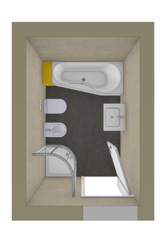Badezimmer Planung Mit Raumsparbadewanne