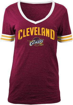 3ad9412ad744 Cleveland Cavaliers Womens White Opening Night T-Shirt | NBA ...