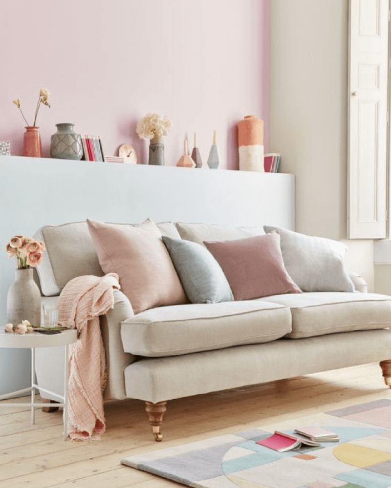 Colour Scheme Idea: Modern Pastels | Pastel living room, Room color ...