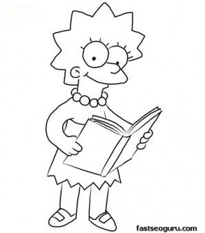 print out lisa simpson coloring page printable coloring pages for kids