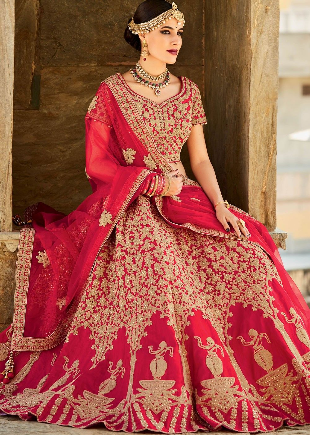 49c877e90e These Blood Red Bridal Lehenga Images Will Make You Say Wow ...