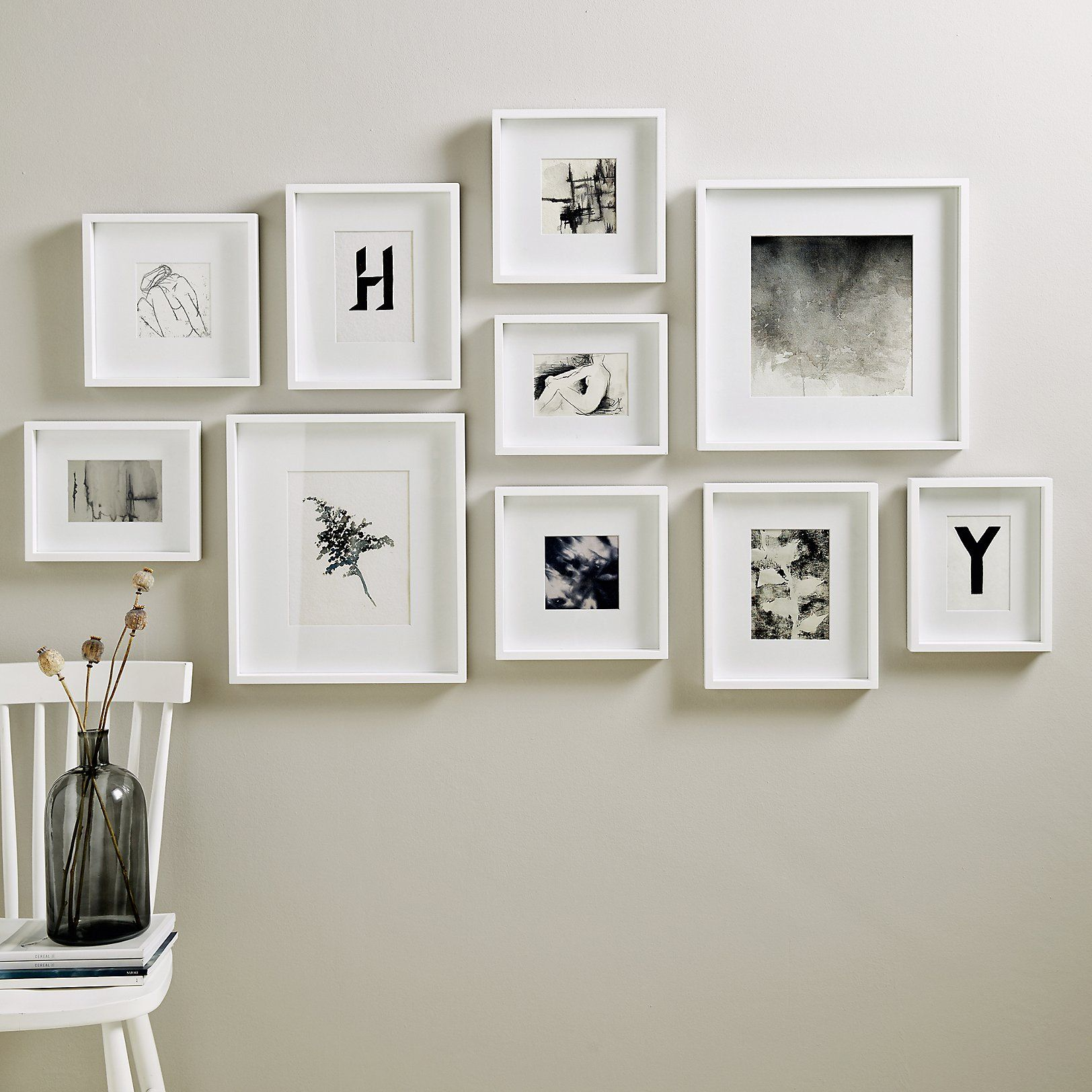 Picture Gallery Wall Frame Set Large New In Home Accessories