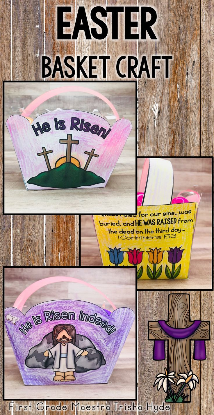 Christian religious easter basket craft is easy to make in the christian religious easter basket craft is easy to make in the classroom sunday school preschool bible school or church youth group this faith negle Images
