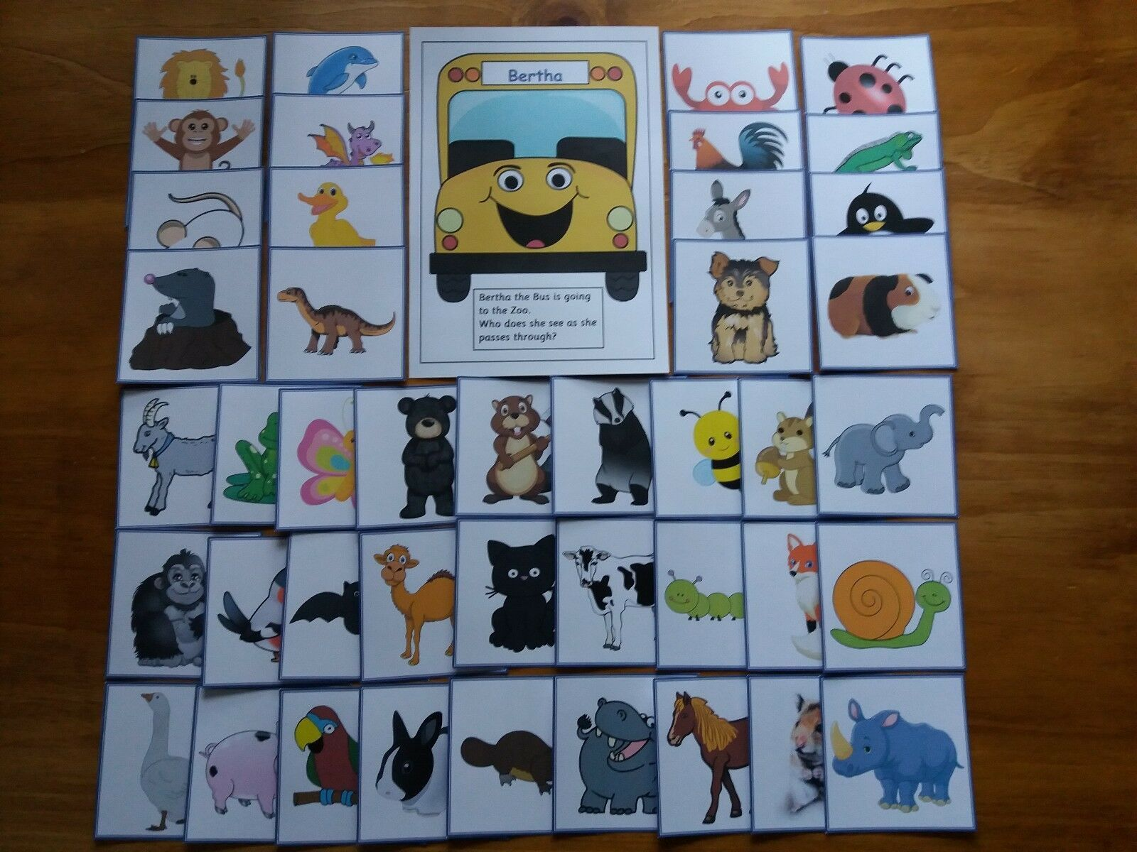 Phase 1 Phonics Bertha The Bus Goes To The Zoo