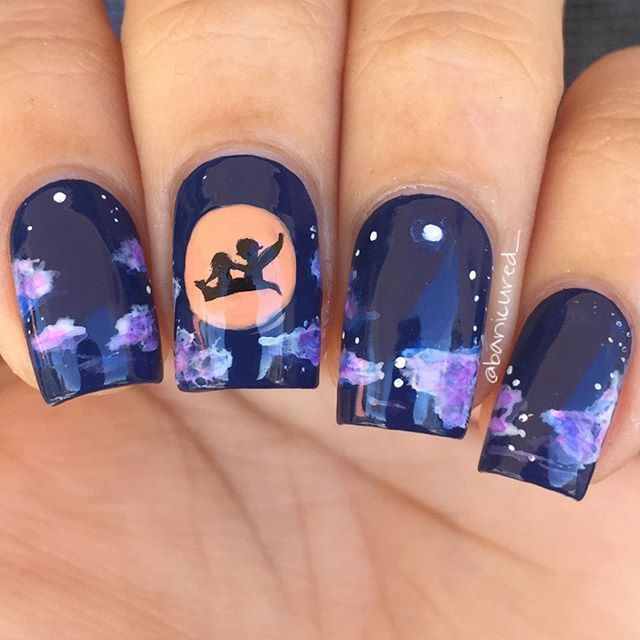 """""""A Whole New World"""" scenery from Aladdin Inspired by the super talented @mananails"""