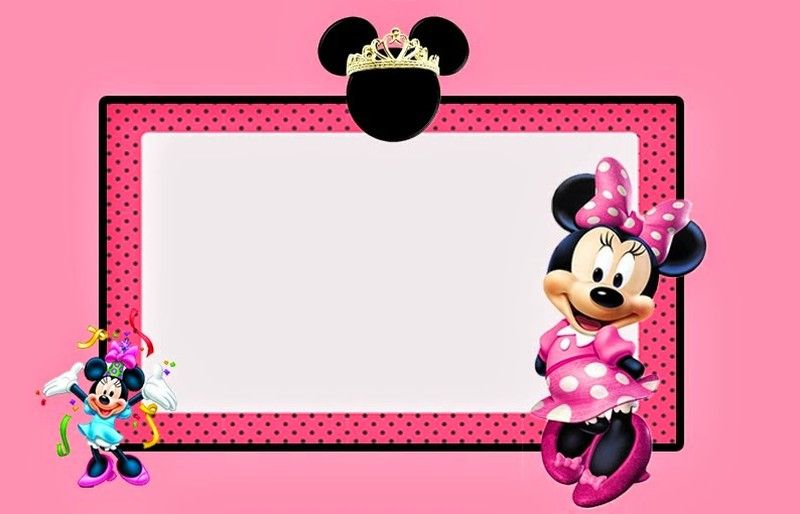 Minnie Mouse Invitation Printable Free birthday party