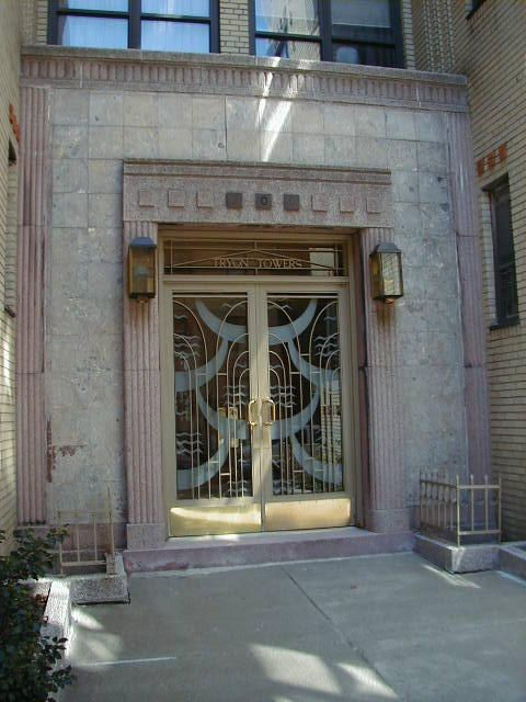 Art Deco Front Doors | Art Deco Buildings In The Fort Tryon Area, New York