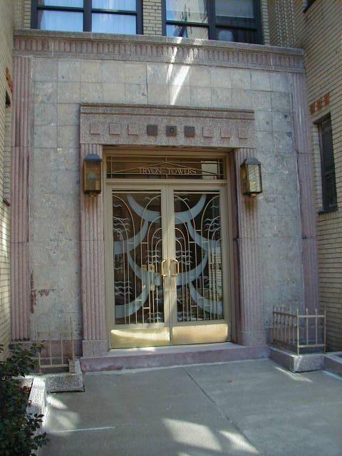 Art Deco Front Doors Art Deco buildings in the Fort Tryon area
