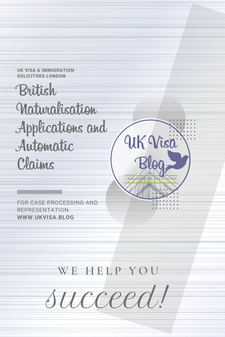British Citizenship Application checking for automatic