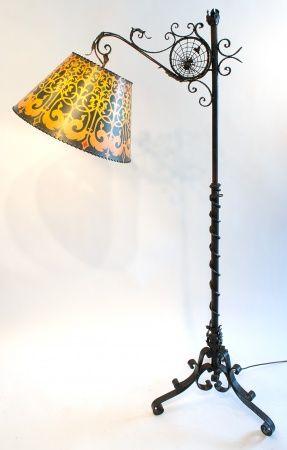 Wrought iron floor lamp lights pinterest wrought iron floor wrought iron floor lamp mozeypictures Images