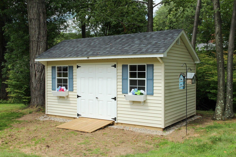 10 X 16 Quaker Vinyl Mini Barn Shed Pool Houses
