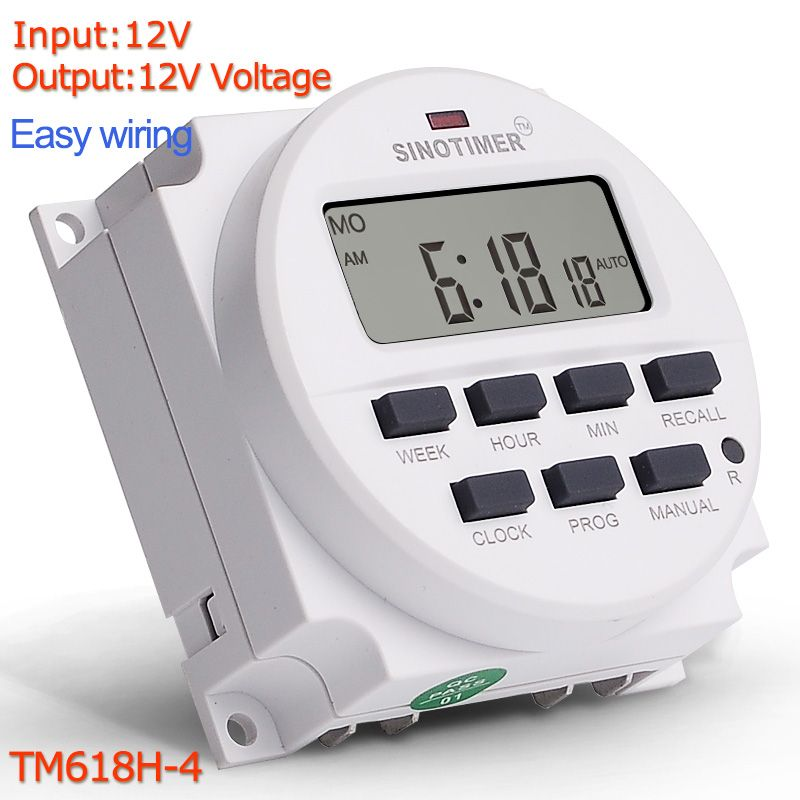 Universe Of Goods Buy Dc 12v 7 Days Weekly Programmable Digital Timer Switch Time Relay Control 12 Volt In 12 24 Hours Format Clock Wit Digital Timer Cool Things To Buy Clock