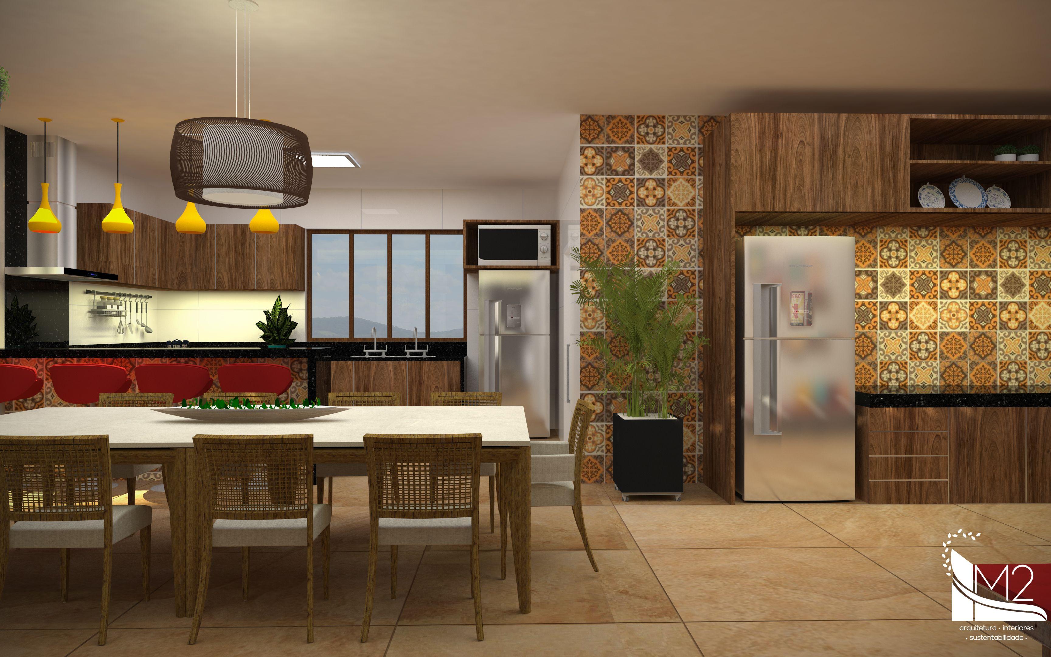 Cozinha E Espa O Gourmet Para Casa De Fazenda Interligada Com A