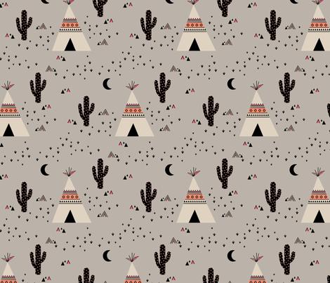 Teepee Pink Fabric By Kimsa On Spoonflower Custom Fabric
