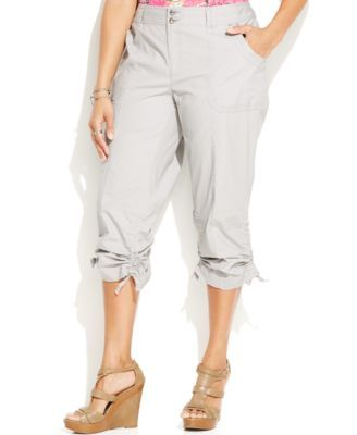 b2a772046a8c4 INC International Concepts Plus Size Ruched Cargo Pants  49.99 Sport INC s  plus size cargo pants with your favorite tees!