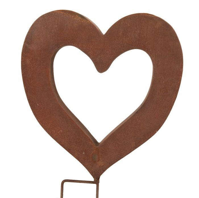 Home :: Garden Sculpture :: Freestanding Decorative Sculpture :: Rusted Heart Sculpture Garden Stake Small