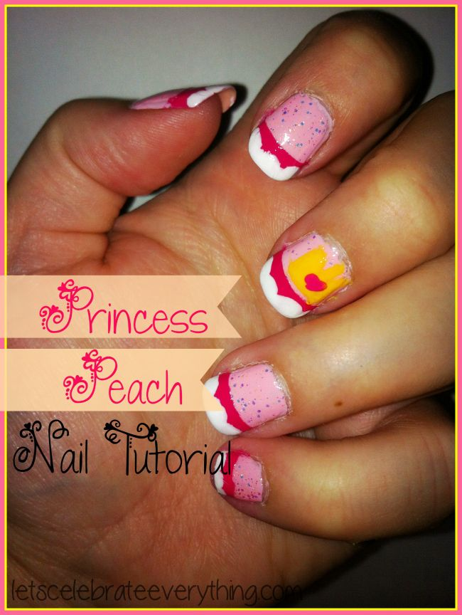Princess Peach Nerdy Nail Art Design | Let\'s Celebrate Everything ...