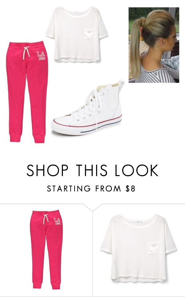 """gym look"" by self-made-hara ❤ liked on Polyvore featuring MANGO, Converse, women's clothing, women, female, woman, misses and juniors"