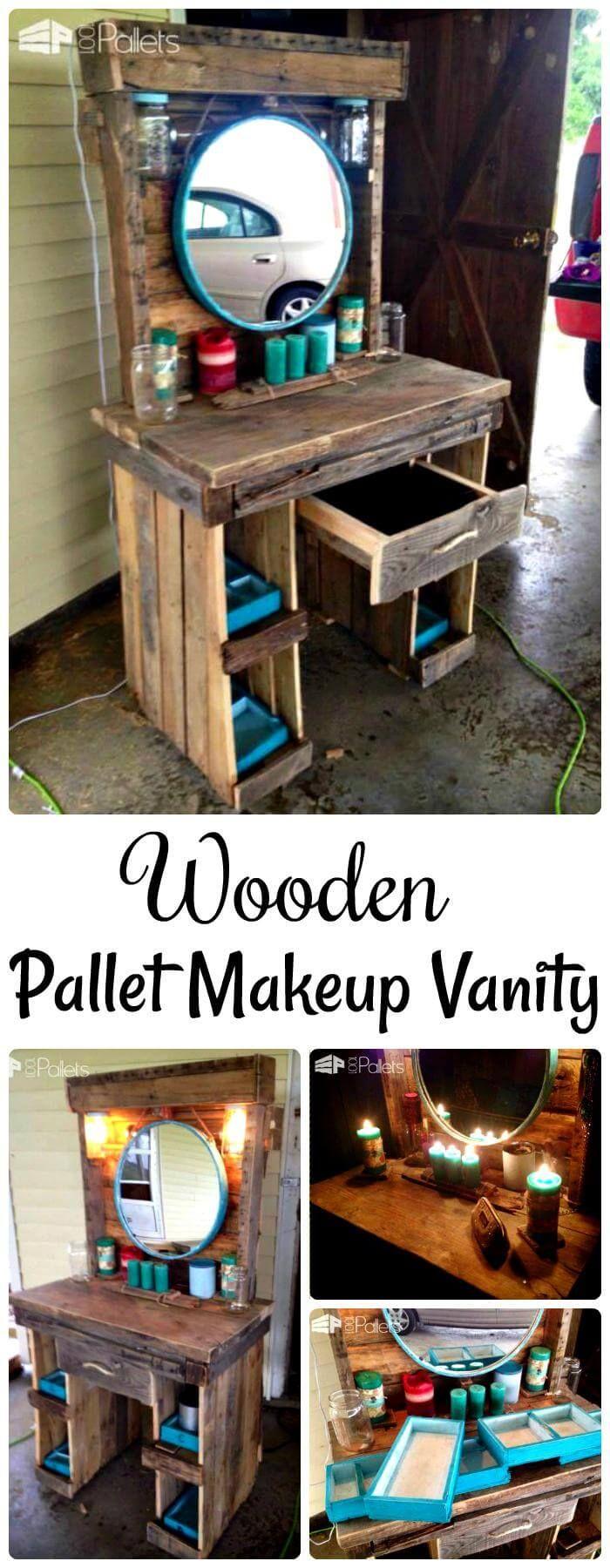 20+ DIY Makeup Vanity Tutorials – DIY Your own Makeup Vanity Table images