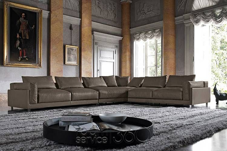 Dilon Italian Modern Leather Sectional Sofa By Contempo