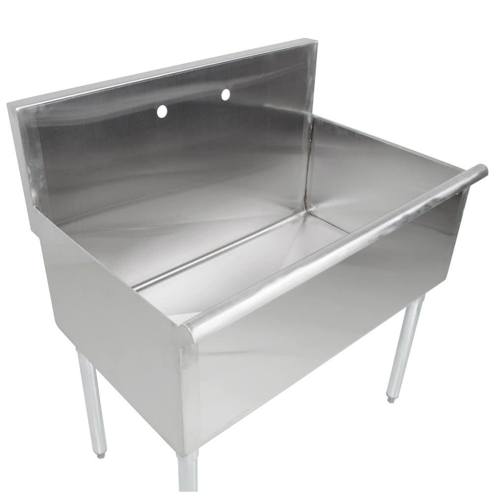 Regency 36 16 Gauge Stainless Steel One Compartment Commercial Utility Sink 36 X 24 X 14 Bowl Stainless Steel Utility Sink Utility Sink Commercial Sink