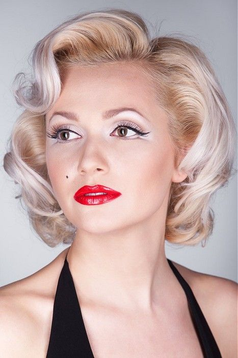 Hair Styles Short Hairstyles For Thick Hair Marilyn Monroe Hair Retro Hairstyles
