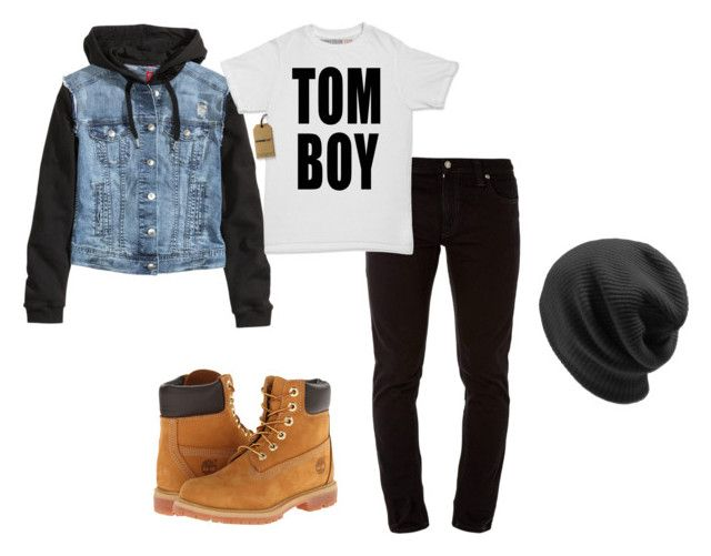 """Tomorrow's outfit."" by crazygirlandproud ❤ liked on Polyvore featuring Nudie Jeans Co., Timberland, H&M, cute, teen, me, tomboy and teenwear"
