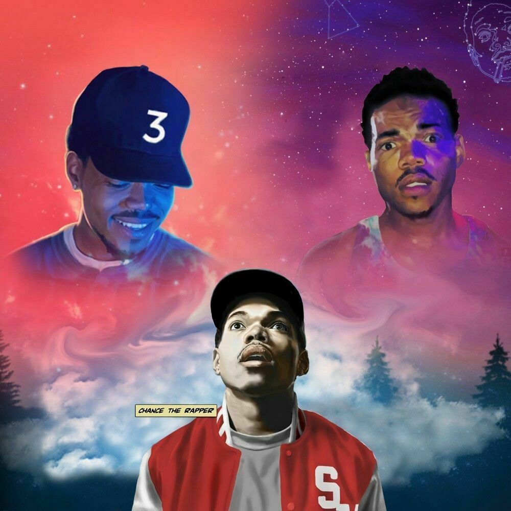 Chance The Rapper Music Hot Singer Fabric Poster 12x12 24x24 27x27 B 31 Chance The Rapper Art Coloring Book Album Chance The Rapper
