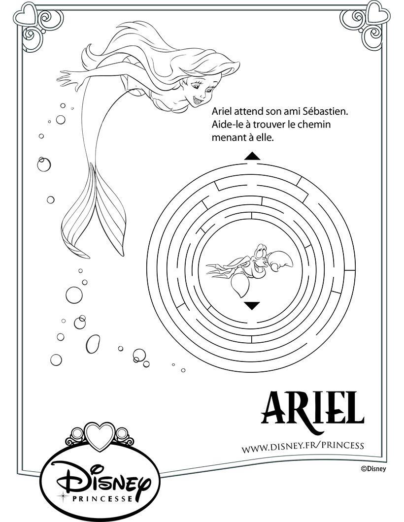 Jeux de labyrinthes - Le Labyrinthe de la Petite Sirène  Petite