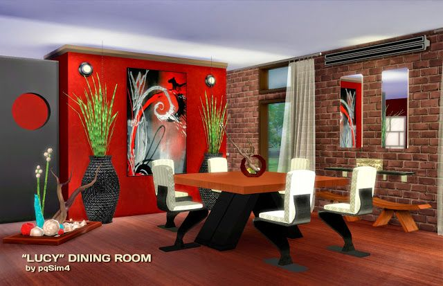 lucy diningroom at via sims 4 updates