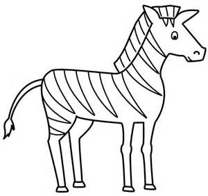 Zebra Outline To Colour Zebra Coloring Pages Zebra Drawing
