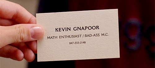 kevin gnapoor, best business card ever