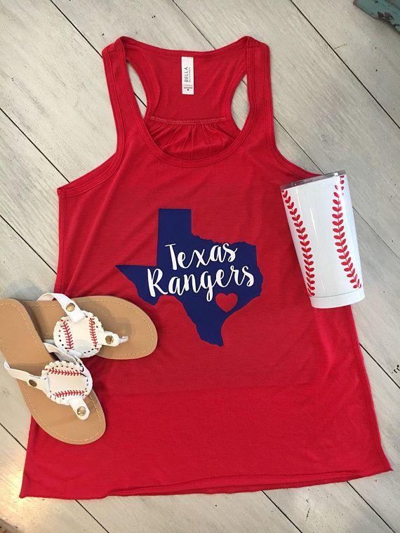 Texas Rangers Baseball Tank Women S Flowy Tank In 2019 Get Fit