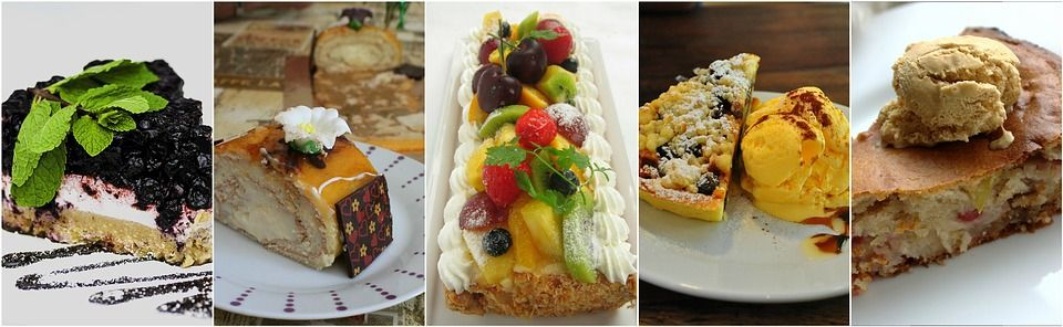 Dessert, Cake, Collage, Food, Sweet, Delicious, Pastry