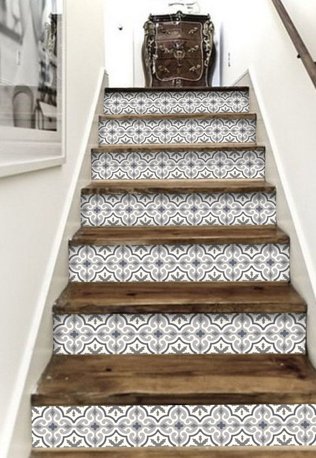 Stair Riser Vinyl Strips 15 Steps Removable Sticker Peel Etsy Stair Riser Vinyl Home Decor Easy Home Decor
