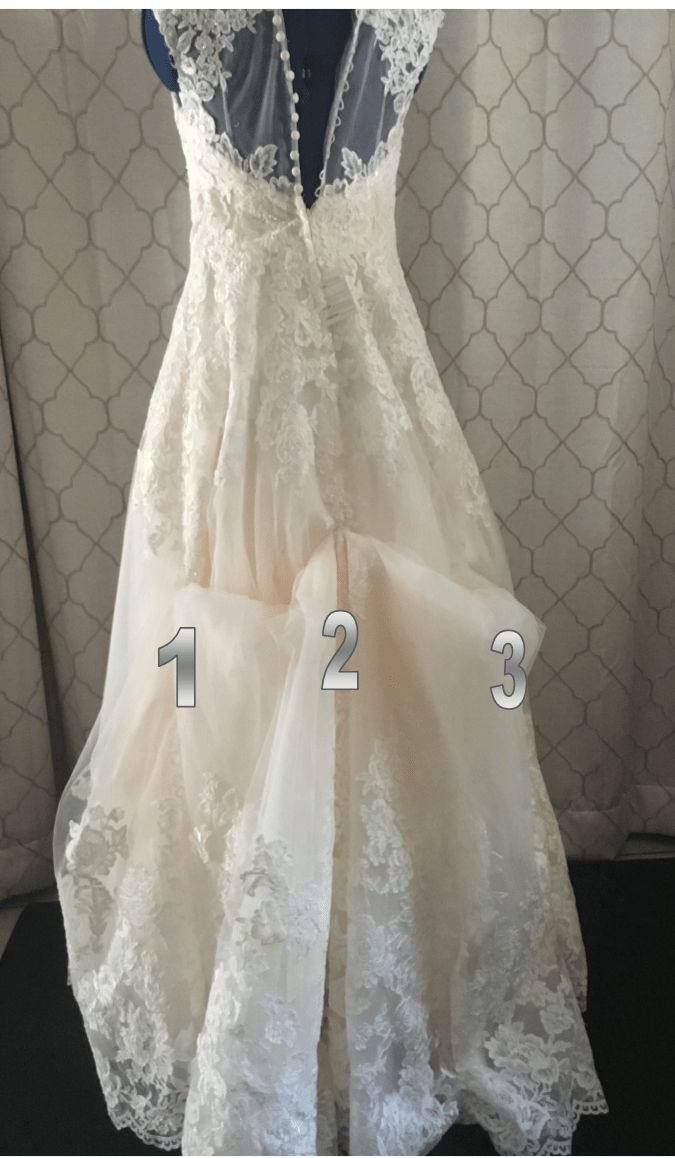 How to bustle a wedding dress DIY Slipcovers and