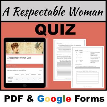 A Respectable Woman Pdf Google In 2020 Teaching Solution High School Ela Abc Order Edward mills and george benton: pinterest