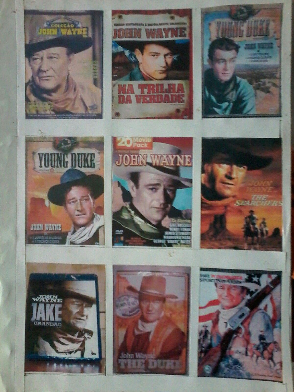 todos este filmes de john wayne assisti em cinema ou TV dvd