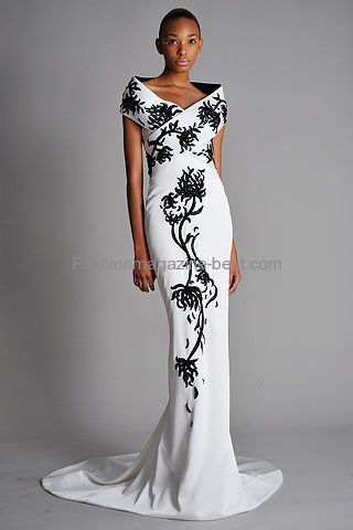 designer black evening gowns | Formal Black and White Designer ...