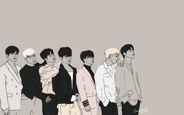 Ikon Goodbye Road Desktop Wallpaper Computer Tablet Kpop Yg The Final Kertas Dinding Lukisan Seni Lukisan