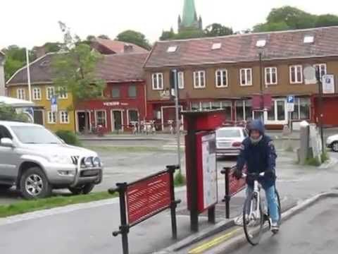 The bike lift in Trondheim, Norway - YouTube