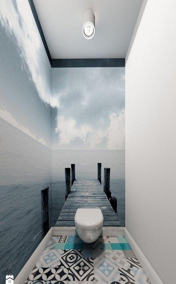 Was Eine Schone Fototapete Aus Einem Kleinen Wc Zaubern Kann Kleine Bader Optisch Vergrossern Wandtapete Raumgestaltung Design Fur Zuhause