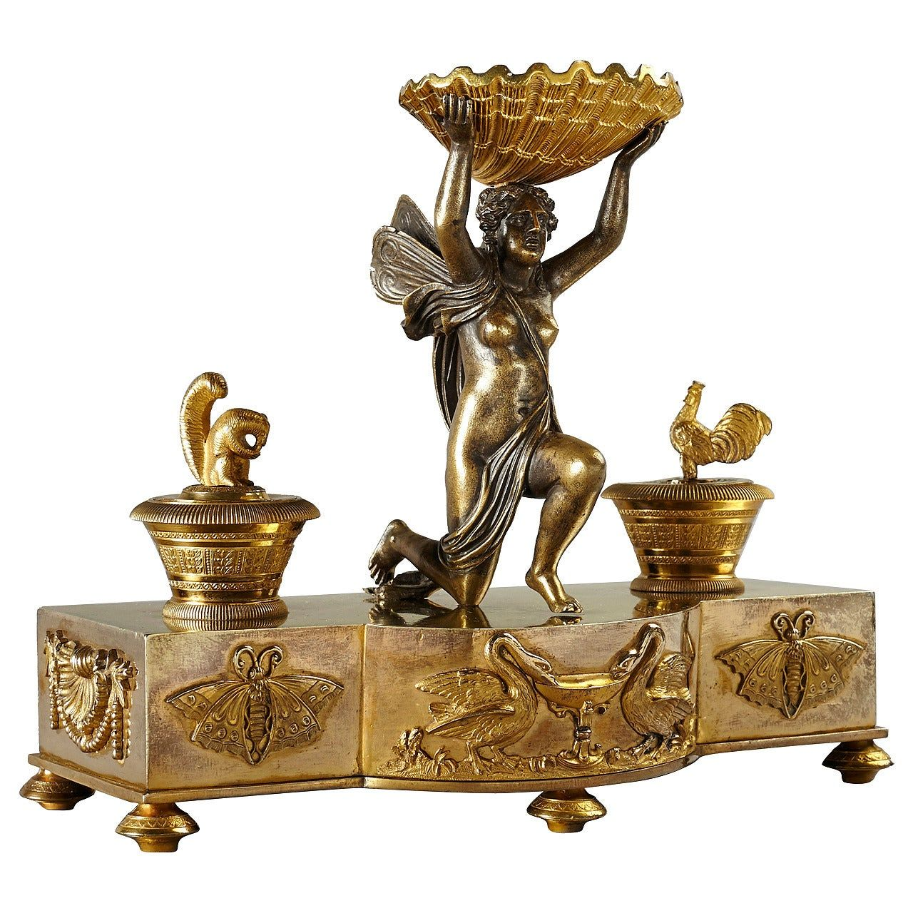 Fine Early 19th Century Empire Russian Inkstand, St