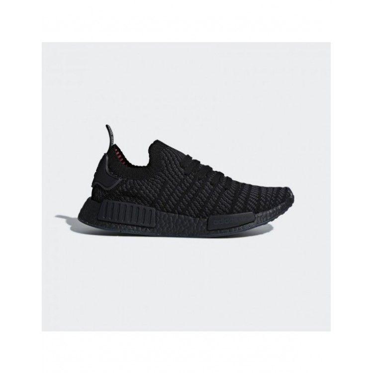 8958172fb7449 Adidas Men Originals NMD R1 STLT Primeknit Shoes Core Black Utility Black Solar  Pink CQ2391