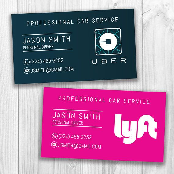 Lyft Business Cards >> Hand These To Your Passengers Or People Out And About To