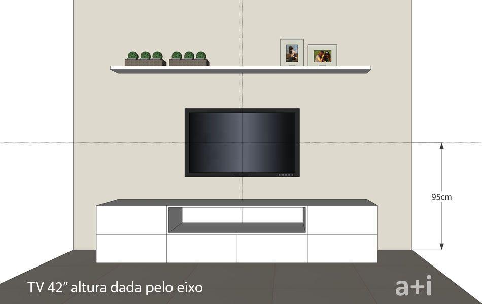 Armario Planejado De Vidro ~ A altura ideal para pendurar a TV na parede u2013 KzaBlog Casa e Decoraç u00e3o ALEATÓRIOS
