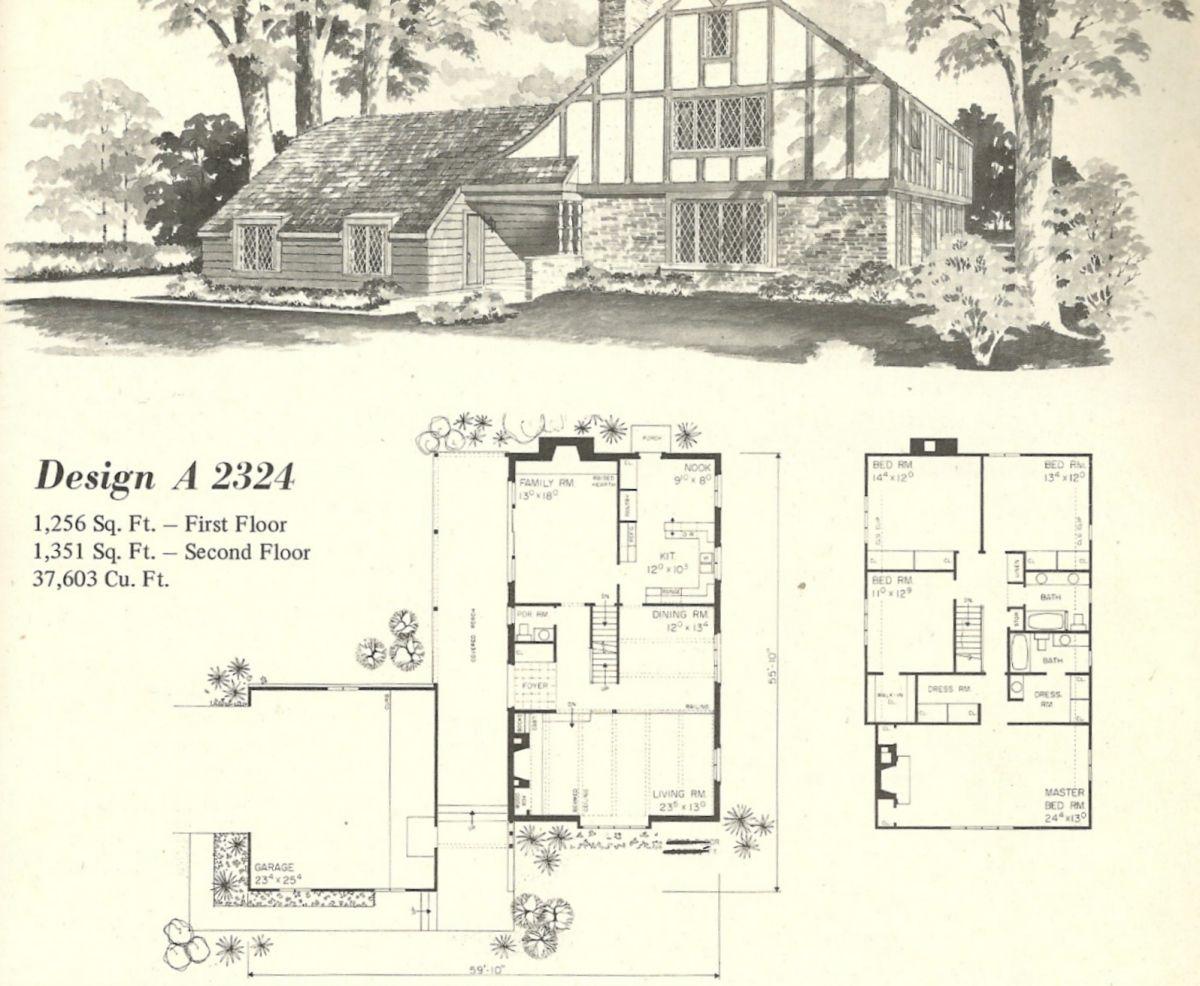 vintage house plans 1970s homes tudor style architecture vintage house plans 1970s homes tudor style