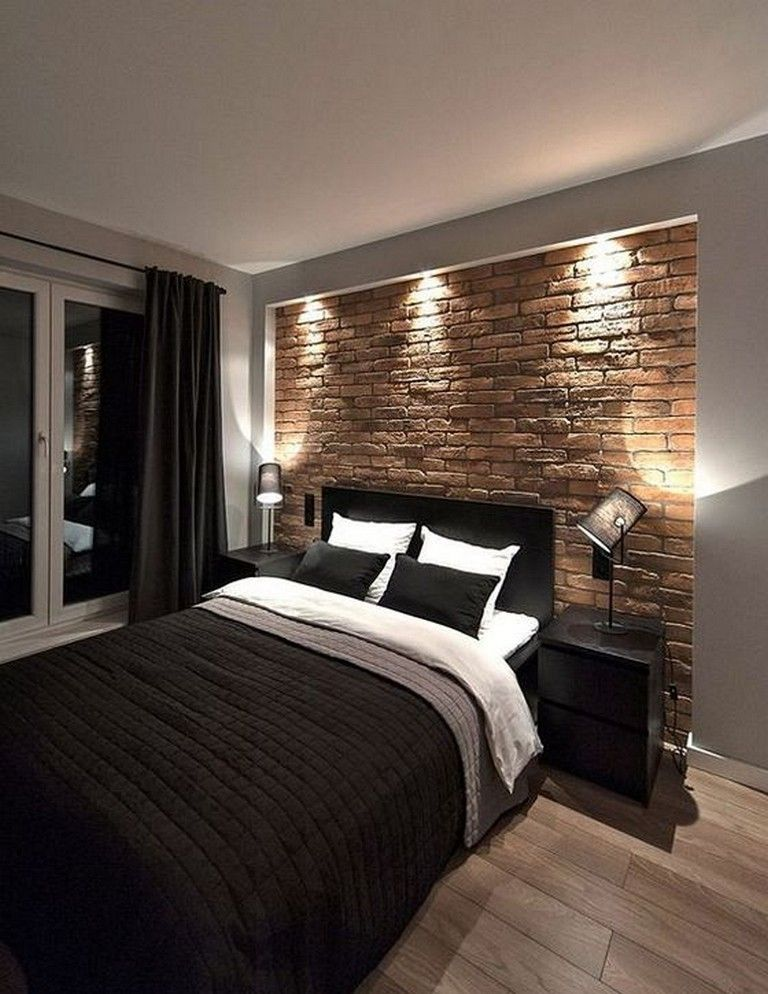 20 Cool Modern Brick Wall Design Ideas For Your Bedroom Rustic